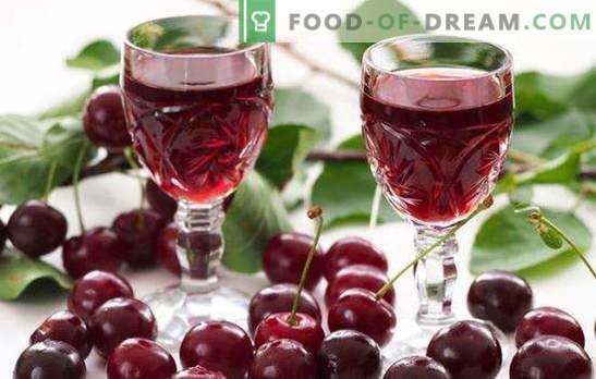 Kodune kirsi liköör viinale on maitsev delikatess täiskasvanutele. Mida süüa omatehtud kirsi tinktuuriga viinale?