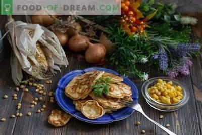 Fritters met maïs en uien - echte zelfgemaakte fast food