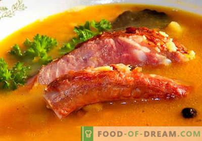 Sealiha supp - parimad retseptid. Kuidas õigesti ja maitsev kokk supp sealiha.