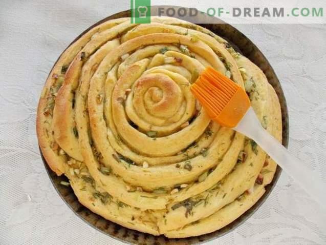 Spiraalne leib maitsetaimede ja küüslauguga