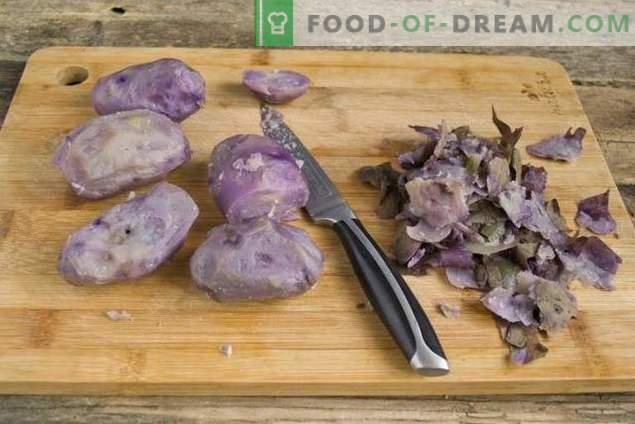 Paastunud salat lilla kartulitega