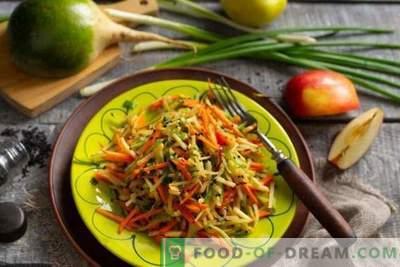 Kasulik salat rohelise redisega porganditega