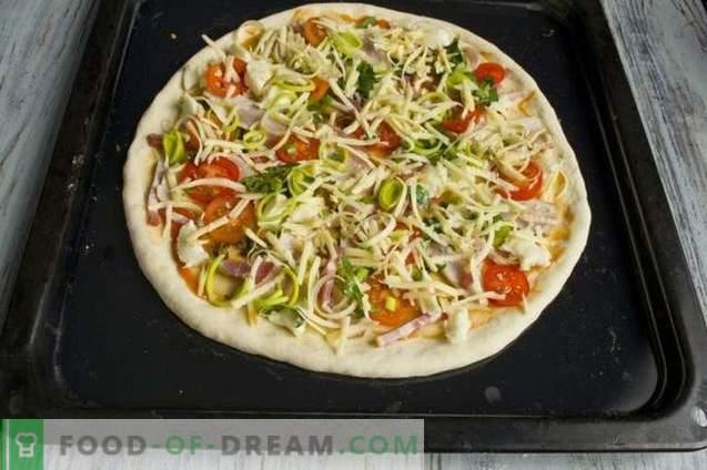 Pärmi pizza ahjuga ja pancettaga ahjus