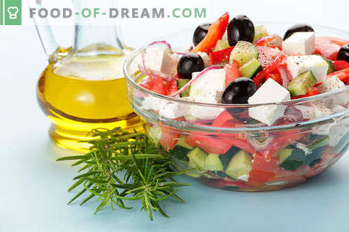 Oliiviõli salatid - valik parimaid retsepte. Kuidas õigesti ja maitsvalt valmistada oliiviõli salateid.