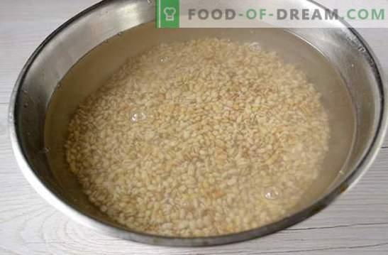Seene pärl oder aeglases pliidis: tühja roog. Kiire ja väga lihtne: fotoretsept seente abil odra valmistamiseks
