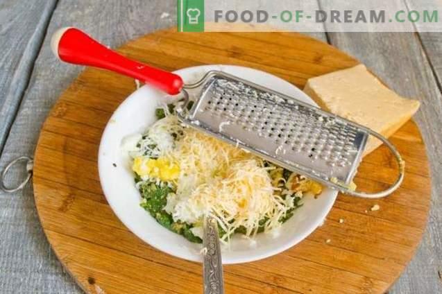 Spinati, muna ja juustuga puffid