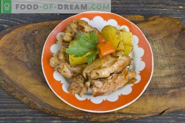 Ahju küpsetatud kana kartuliga