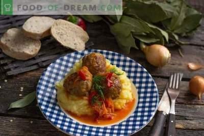 Itaalia lihapallid või lihapallid köögiviljakastmes