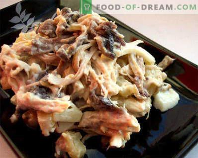 Keedetud kala salatid - retseptid nädalapäevadeks ja pühadeks
