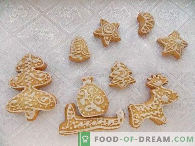 Jõulud piparkoogid koos jäätumisega