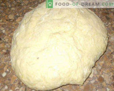 Dough for pies with sour milk, yeast, for fried and baked pies