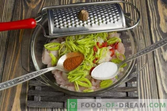 Costeletas de frango no microondas