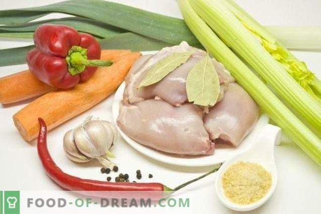 Jellied kana leeki ja paprikaga