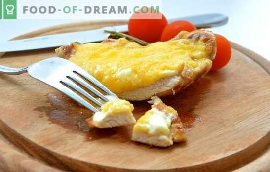 Sealiha tükid juustuga: kas te olete klassikaline, hammustatud või kirss? Iga päev ja pidulik sealiha tükid juustuga