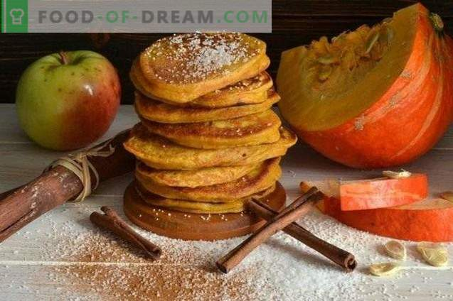 Pannkoogid kõrvitsaga ja õunadega