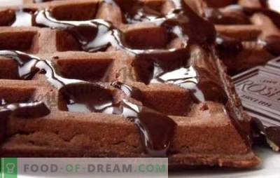 Šokolaadi vahvlid - unustatud delikatesside retseptid. Kuidas teha aromaatseid šokolaadivohvleid