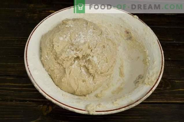Pastel con carne y champiñones en el horno