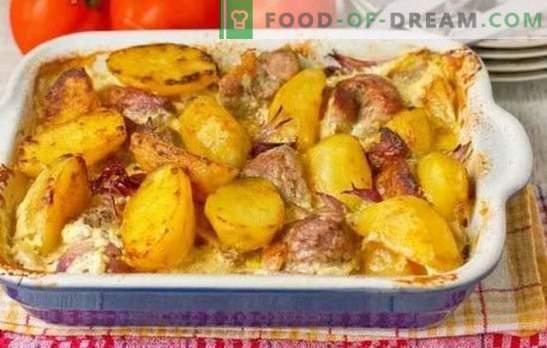 Kodune sealiha kartuliga on väga lihtne. Küpsetatud, hautatud ja praetud sealiha toidud kartulitega kodus