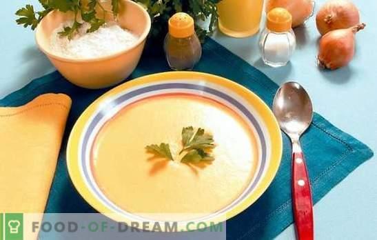 Multicooker supp: laisk gurmaanid. Retseptid supid püree aeglases pliidis: juust, kana, köögiviljad, seened, maks