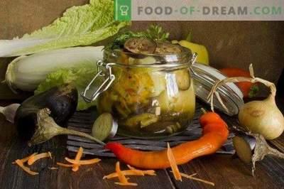 Köögiviljapulber täidisega paprika ja baklažaanidega talveks