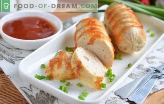 Kana hakklihaga vorstid on vorstidele kasulik alternatiiv. Valik vorstipreparaate hakkliha ja vürtsidega