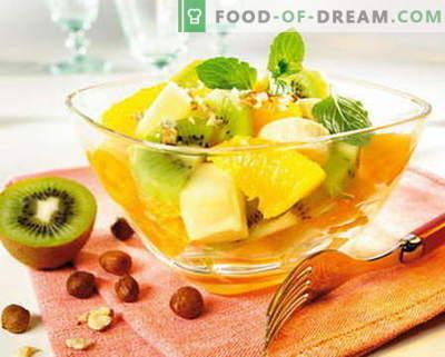Puuviljasalat - parimad retseptid. Kuidas õigesti ja maitsvalt valmistada puuviljasalatid.