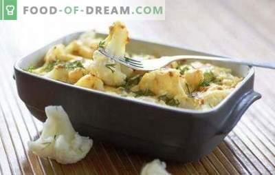 Lillkapsas juustuga ahjus - dieet! Juustuga küpsetatud lillkapsasega roogad