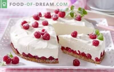 Õrn ja maitsev madala kalorsusega kook - delikatess retsept õhukeste maiustuste jaoks. Koori ja taigna variandid madala kalorsusega kookide jaoks