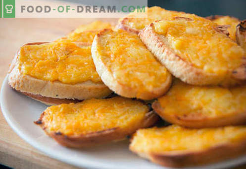 Krutoonid juustuga - parimad retseptid. Kuidas korralikult ja maitsvat keedetud krutooni juustuga.