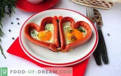 Praetud munad vorstidega - maitsev, rahuldav, romantiline! Erinevate praetud munade retseptid vorstidega: südamed, segatud, praetud munad