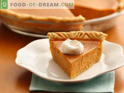 Pumpkin Pie - parimad retseptid. Kuidas korralikult ja maitsev kokk kõrvitsakooki.