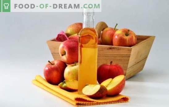 Õunasiidri äädikas: kuidas seda korralikult valmistada. Eetika toiduvalmistamise kodus saladused kodus