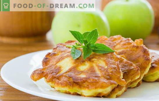 Pannkoogid õunadega - maitsvad ja tervislikud saiakesed ilma probleemideta. Traditsioonilised ja originaalsed retseptid õunte frittersile