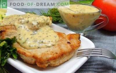 Steak de porc au four - une pièce chic! Recettes Steaks de porc au four avec moutarde, sauce soja, oignons, pommes de terre et miel