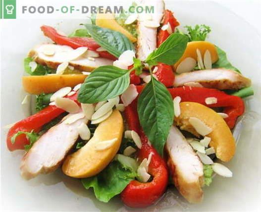 Bulgaaria pipar salat kana - parimad retseptid. Kuidas õigesti ja maitsvalt valmistada paprika ja kana salat.