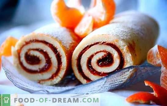 Roll koos moosiga - lihtne, puhas, ilus! Retseptid küpsised, liiv, pärmirullid moosiga