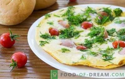 Omlett vorstidega - lihtne ja rikkalik hommikusöök! Maitsvaid omelette koos vorstidega ahjus, mikrolaineahjus, aeglases pliidis ja pannis