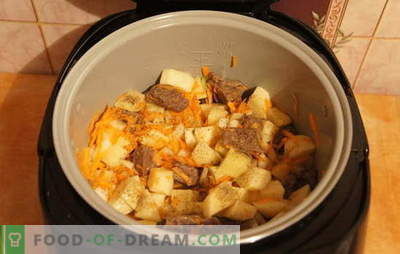 Gestoofde aardappelen met vlees in de slowcooker: rust! Recepten voor gestoofde aardappelen met vlees in een slowcooker: eenvoudig en complex