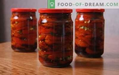 Tomatid tomatis talvel: terav karkass idamaise maitsega. Valik Korea tomati talvel retsepte