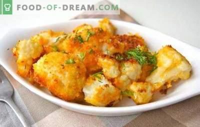 Kuidas lillkapsas praadida (värske, külmutatud) on maitsev. Retseptid praetud lillkapsas leivamisel, tainas, munas, köögiviljadega