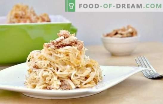 Pasta seentega kreemjas kastmes - aromaatne roog iga päev. Valik parimaid retsepte pasta ja seente vahel kreemjas kastmes
