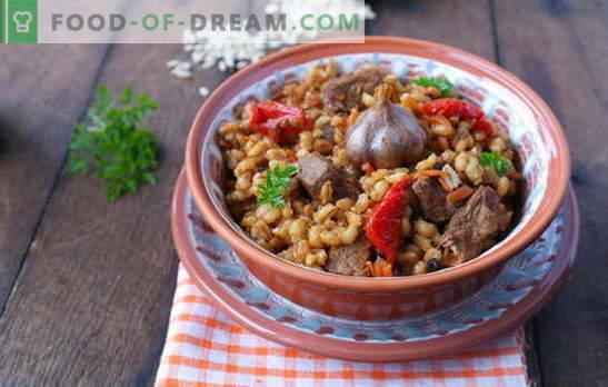 Oliivipuder koos lihaga on maitsev ja tervislik rooma köögi roog. Parimad retseptid odra puderaga liha