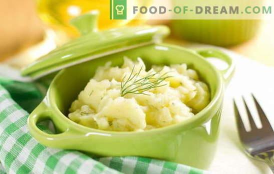 Lihtne ja mitmekülgne garneeringu piimaga kartul. Kartulid piimaga, iseseisva roogana