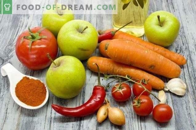 Tomatikastmes porgandite ja õunadega talveks