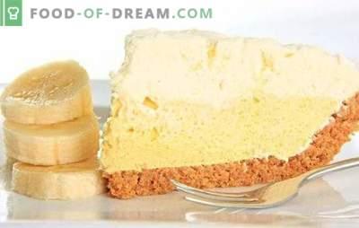 Crema de tort de banane este o delicatesă de neegalat. Cum să pregătiți cu ușurință și rapid tortul original de cremă de banane