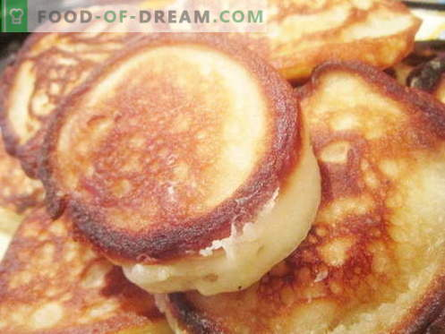 Les beignets à la levure sont les meilleures recettes. Comment bien et savoureux faire cuire des crêpes avec de la levure.