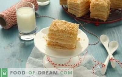 Napoleoni kook, mis on valmistatud valmis lehtpastast, on magustoit, mis ei tekita probleeme. Retseptid