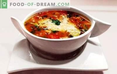 Minestrone Soup - Tere päikesepaistelisest Itaaliast! Minestrone supp retseptid pasta, peekoni, seente, oad, parmesaniga