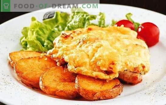 Sealiha tükid tomatite ja juustuga - mahlane! Kuidas valmistada sealiha tükki tomatiga ja juustuga