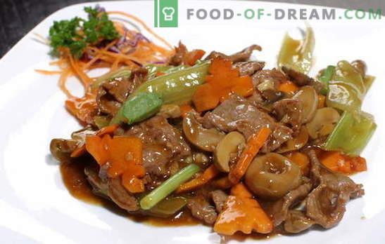 Liha sojakastmes: sealiha ja veiseliha. Top 10 retseptid liha valmistamiseks sojakastmes marinaadis
